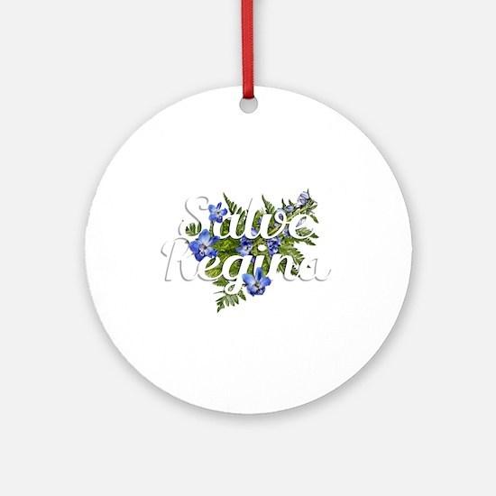 Salve Regina Round Ornament