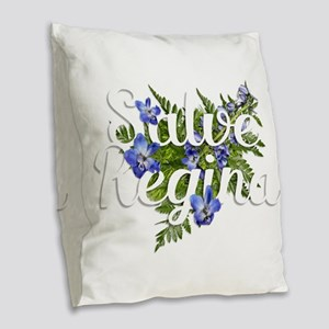 Salve Regina Burlap Throw Pillow