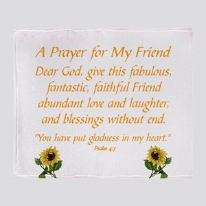 A PRAYER FOR A FRIEND... Throw Blanket