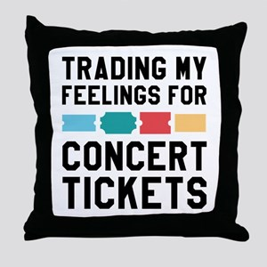 Feelings Concert Tickets Throw Pillow