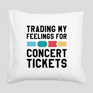 Feelings Concert Tickets Square Canvas Pillow