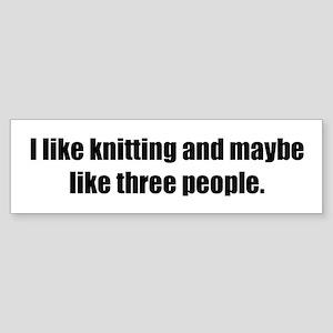 Knitting Bumper Sticker