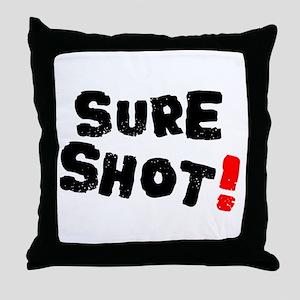 SURE SHOT! Throw Pillow