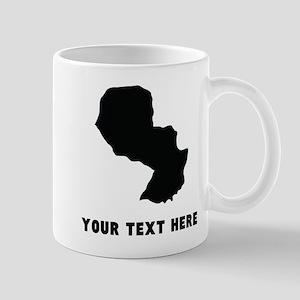 Paraguay Silhouette (Custom) Mugs