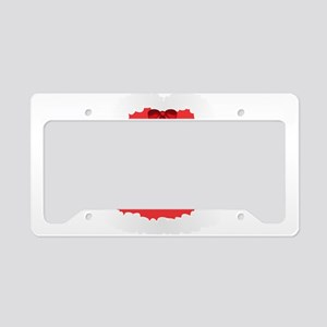christmas corset Mrs Claus License Plate Holder