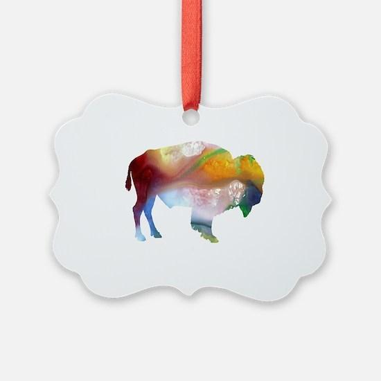 Unique Bison Ornament