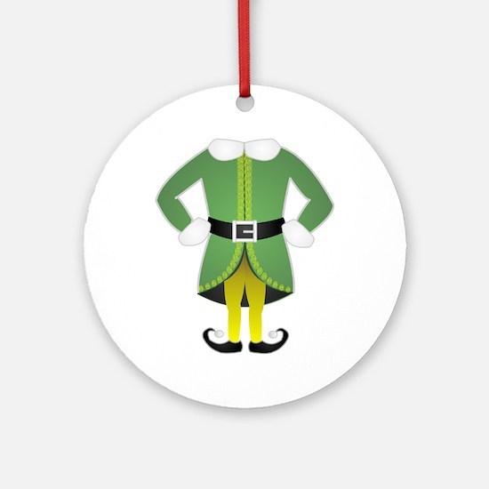 cartoon christmas elf Round Ornament