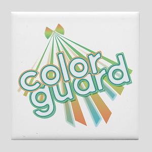 Retro Color Guard Tile Coaster