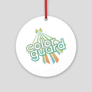 Retro Color Guard Ornament (Round)
