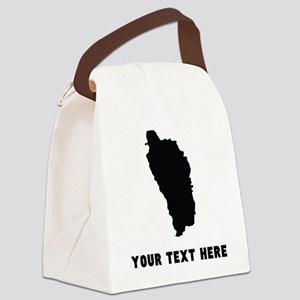 Dominica Silhouette (Custom) Canvas Lunch Bag
