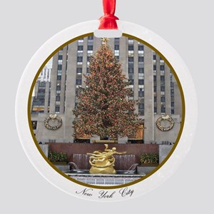 Rockefeller Center Christmas Round Ornament