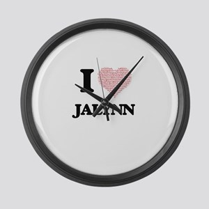 I love Jalynn (heart made from wo Large Wall Clock