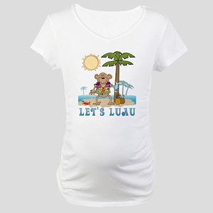 Lets Luau Boy Monkey Maternity T-Shirt