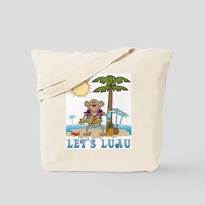 Lets Luau Boy Monkey Tote Bag