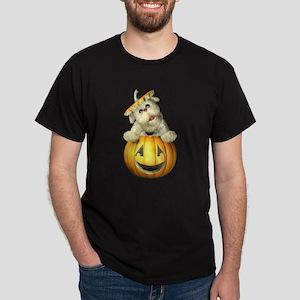 Halloween Pumpkin Dog Dark T-Shirt