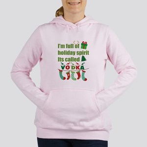 Holiday Spirit - Vodka Women's Hooded Sweatshirt