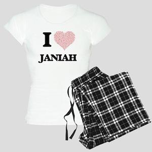I love Janiah (heart made f Women's Light Pajamas
