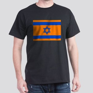 Orange Israeli Flag Dark T-Shirt