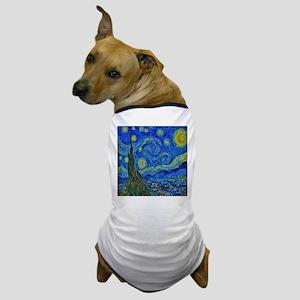 Van Gogh Starry Night Extra Color Dog T-Shirt