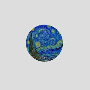 Van Gogh Starry Night Extra Color Mini Button