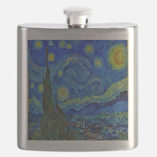 Van Gogh Starry Night Extra Color Flask