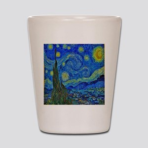 Van Gogh Starry Night Extra Color Shot Glass