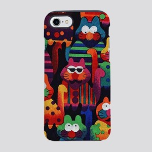 Cool Colorful Cats iPhone 8/7 Tough Case
