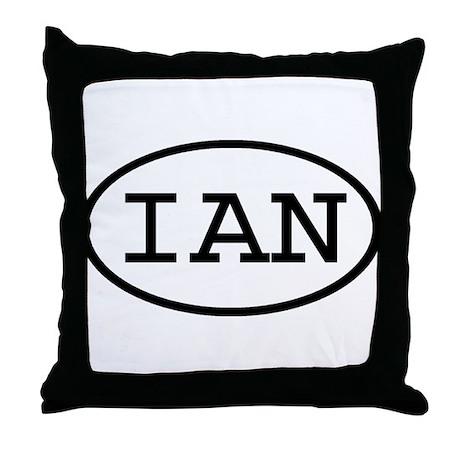IAN Oval Throw Pillow