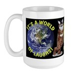 A World of Laughs Large Mug