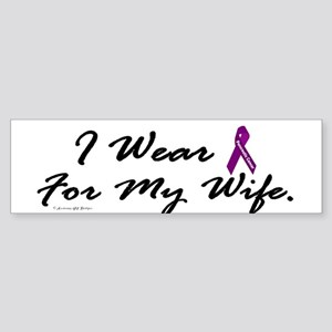 I Wear Purple 1 (Wife PC) Bumper Sticker