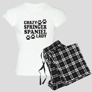 Crazy Springer Spaniel Lady Pajamas