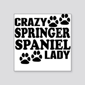 Crazy Springer Spaniel Lady Sticker