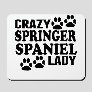 Crazy Springer Spaniel Lady Mousepad