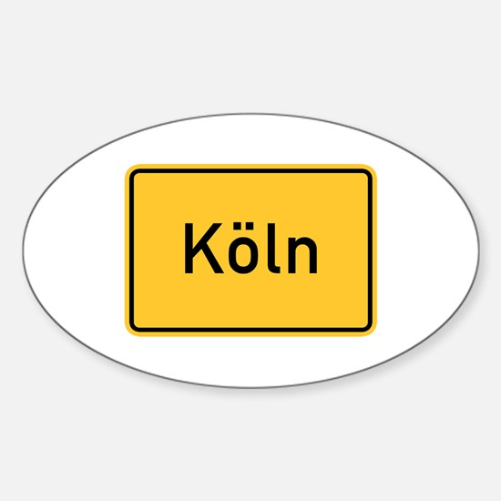 Cologne Roadmarker, Germany Oval Decal