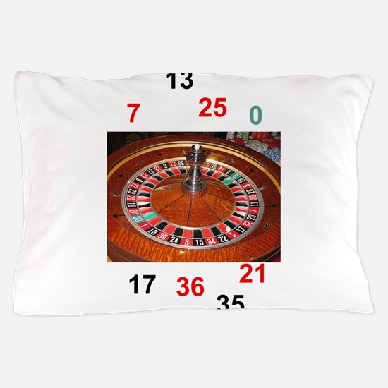 Casino roulette gaming wheel with numb Pillow Case