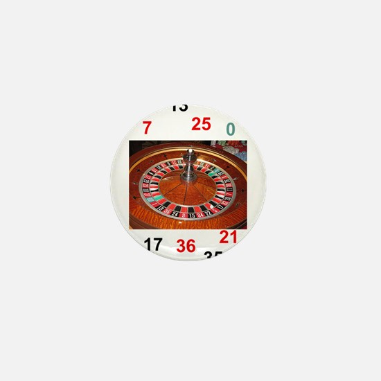 Casino roulette gaming wheel with numb Mini Button