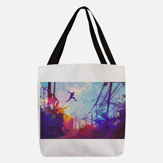 Parkour Urban Obstacle Course Polyester Tote Bag