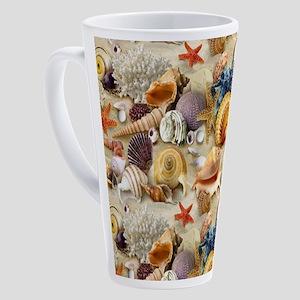 Fancy Seashell 17 oz Latte Mug