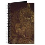 Snuggly Snow Leopard Journal
