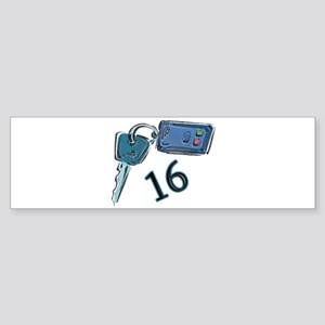 16th Birthday keys Bumper Sticker