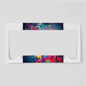 Colorful stars License Plate Holder