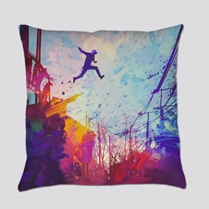 Parkour Urban Obstacle Course Everyday Pillow