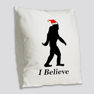 Believe Burlap Throw Pillow