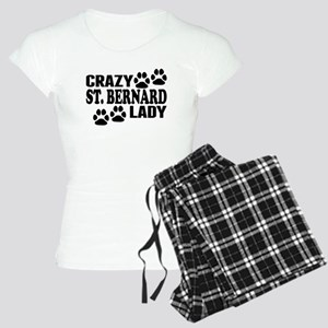 Crazy St. Bernard Lady Pajamas