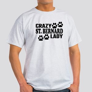 Crazy St. Bernard Lady T-Shirt