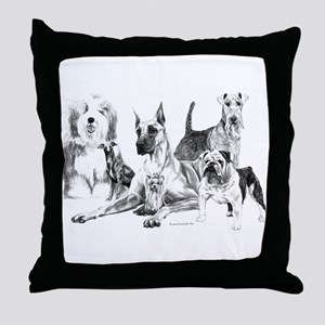 `Dogs, ALL kinds!' Throw Pillow