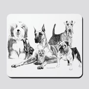 `Dogs, ALL kinds!' Mousepad