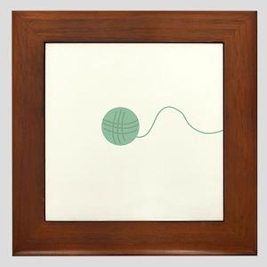 ball of wool Framed Tile