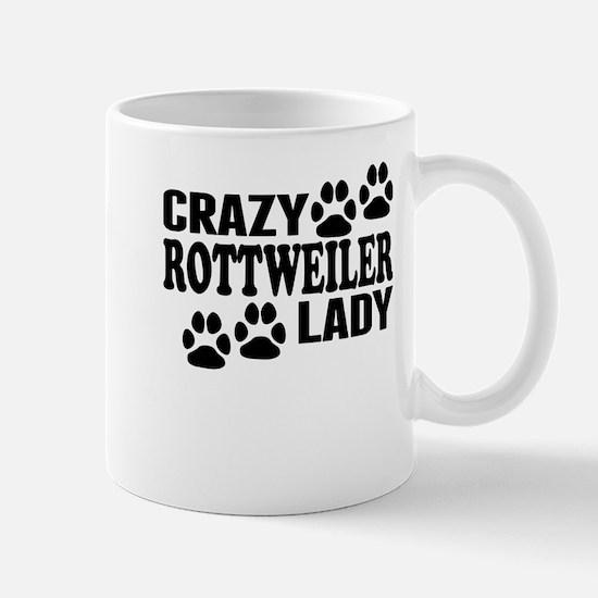 Crazy Rottweiler Lady Mugs