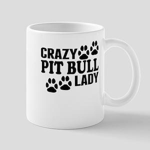Crazy Pit Bull Lady Mugs